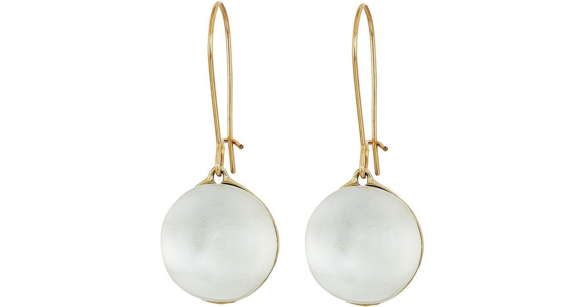 Lyst - Alexis Bittar Dangling Sphere Kidney Wire Earrings in Metallic