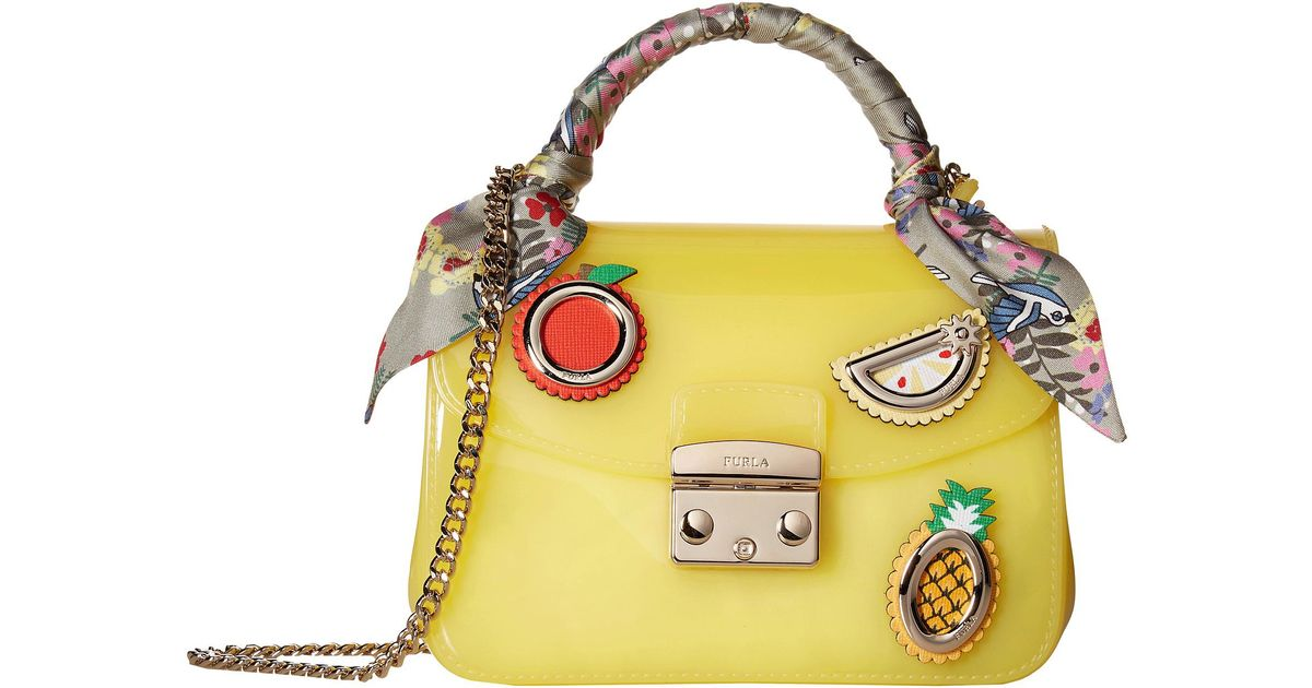 detailed images usa cheap sale the best Furla Yellow Candy Sugar Mini Crossbody