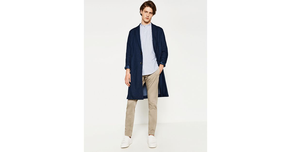 Zara chino trousers for men lyst for Zara mens shirts sale