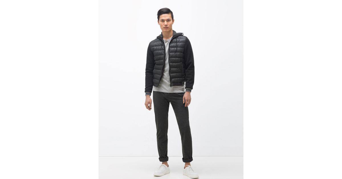 Zara Contrast Hooded Jacket For Men Lyst