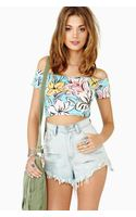 Nasty Gal Island Crush Crop Top