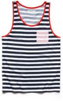 21men Striped Pocket Tank Top - Lyst