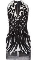 Antonio Berardi Flocked Airtex Embroidered Mini Dress - Lyst