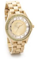 Marc By Marc Jacobs Henry Skeleton Glitz Watch - Gold - Lyst