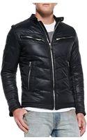 Diesel Jurvi Padded Nylon Moto Jacket - Lyst