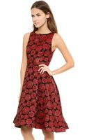 Alice + Olivia Alice Olivia Bailey Flounce Dress Red Multi Floral - Lyst