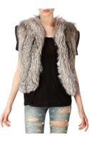 Saint Laurent Fox Fur Vest - Lyst