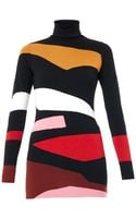 Issa Elise Abstract-intarsia Sweater - Lyst