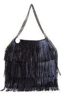 Stella McCartney Falabella Fringe Shoulder Bag - Lyst