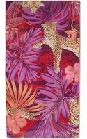 Ferragamo Leopard and Flower Print Shawl - Lyst