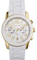 Michael Kors Ladies Twotone Mercer Chronograph Watch - Lyst