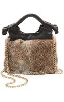 Foley + Corinna Foley  Corinna Tiny City Cross Body Bag with Fur  Nymeria - Lyst