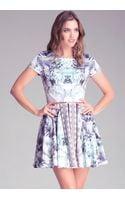Bebe Mix Print Circle Dress - Lyst