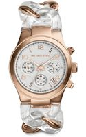 Michael Kors Rose Goldtonefinished Stainless Steel Acetate Chronograph Bracelet Watch - Lyst