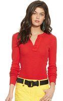 Polo Ralph Lauren Waffleknit Henley Shirt - Lyst