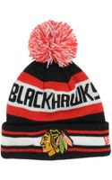 New Era Kids Chicago Blackhawks Jacob Pom Knit Hat - Lyst