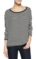 Alice + Olivia Alice Olivia Boxy Ribbed Striped Sweater - Lyst