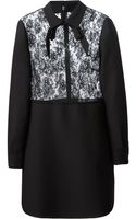 Valentino Sheer Lace Top Dress - Lyst