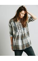 Free People Crochet Inset Plaid - Lyst