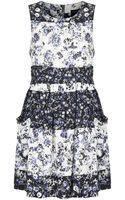 Topshop Stripe Floral Pocket Dress - Lyst