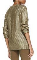 Michael by Michael Kors Metallic Knit Sweater - Lyst