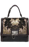 Dolce & Gabbana Monica Brocade Ayers Top Handle Bag - Lyst