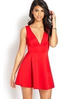 Forever 21 Vcut Fit Flare Dress - Lyst