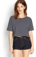 Forever 21 Striped Boxy Tee - Lyst