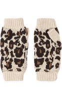 Rosie Sugden  Leopard-intarsia Cashmere Gloves - Lyst