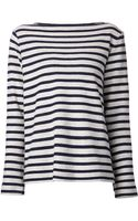 T By Alexander Wang Striped French Terry Top - Lyst