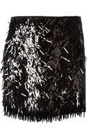 DKNY Front Embellished Mini Skirt - Lyst