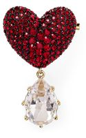 Nadri Cubic Zirconia Heart Pin - Lyst