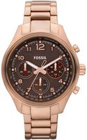 Fossil Womens Rose Gold Plated Stainless Steel Bracelet Watch 38mm - Lyst