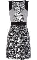 Karen Millen Texture Jacquard Panel Dress - Lyst