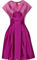 Temperley London Freesia Two-tone Sateen Dress - Lyst