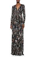 Rachel Pally Long-sleeve Printed Caftan Maxi Dress - Lyst