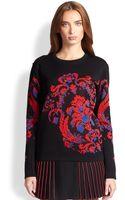 Roberto Cavalli Crewneck Jacquard Sweater - Lyst