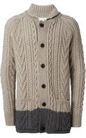 Marc Jacobs Cable Knit Cardigan - Lyst