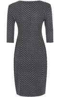 Weekend By Maxmara Polka Dot Jacquard Belted Dress - Lyst