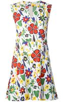 Suno Abstract Floral Dress - Lyst
