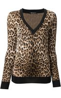 Balmain Leopard Print Sweater - Lyst