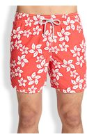 Vilebrequin Moorea Floral-print Swim Trunks - Lyst