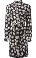 Diane Von Furstenberg Rose Print Shirt Dress - Lyst