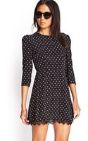 Forever 21 Polka Dot Lace Dress - Lyst