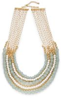 Saks Fifth Avenue Beaded Bib Necklace - Lyst