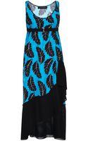 Thakoon Palm Print Silk Jacquard Pleated Tank Dress - Lyst