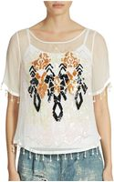 Free People Talk That Talk Embellished Top - Lyst