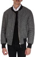 Ami Herringbone Varsity Jacket - Lyst