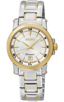 Seiko Womens Premier Twotone Stainless Steel Bracelet Watch 28mm Sxdf44 - Lyst