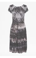 French connection Amelia Striped Tee Dress - Lyst